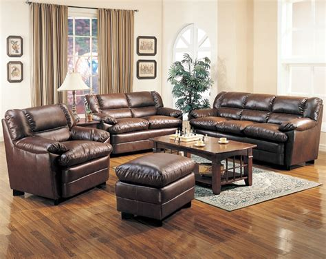 brown leather sofa in living room leather living room set in brown sofas