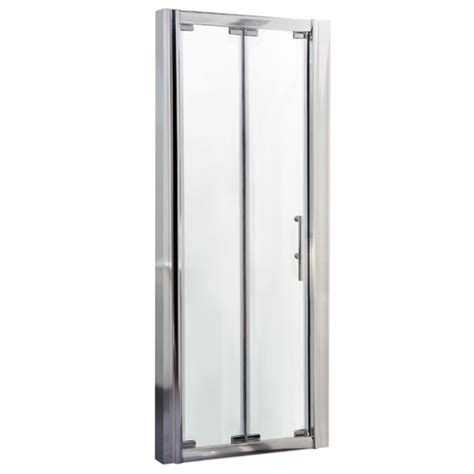 bi fold shower door frameless aegean frameless bi fold shower door at plumbing uk