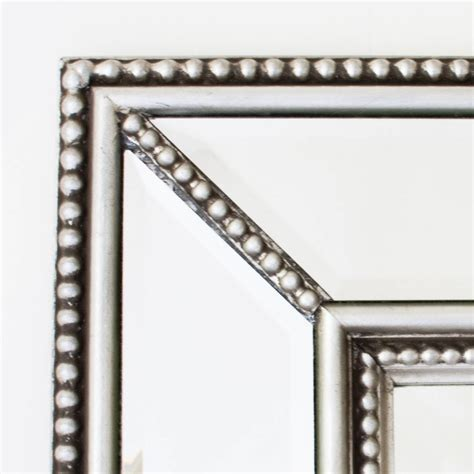large beaded mirror beaded classic silver mirror by decorative mirrors