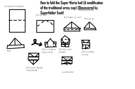 how to make origami mario superfolder eash s discovered origami mario hat