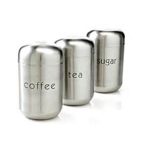 stainless steel kitchen canisters sets nurdew livingquarters set of 3 stainless steel canisters