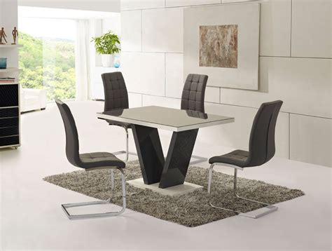 high dining table and chairs grey glass high gloss dining table and 4 chairs set
