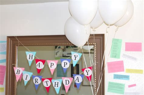 ideas at home birthday decoration ideas at home for husband