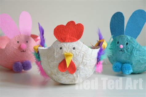 paper mache crafts for easter craft basket tissue paper mache ted s