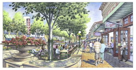 paint nite yuba city color rendering of sidewalk and improvements for