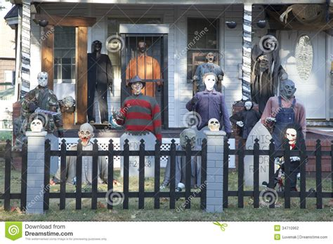 Decorated Houses For Halloween extreme halloween decorating editorial photography image