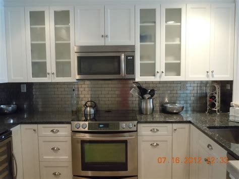 metal kitchen backsplash white with metal backsplash traditional kitchen new