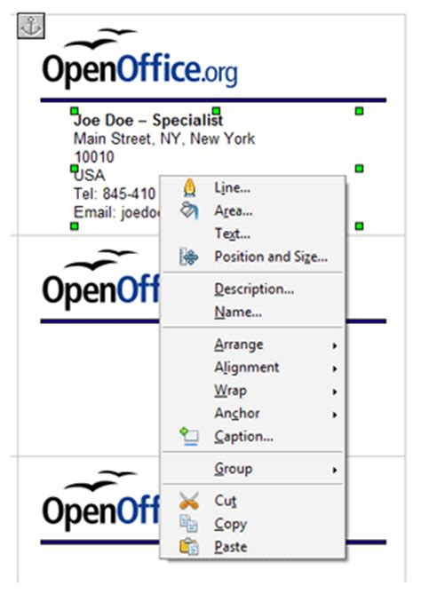how to make business cards in openoffice business cards in openoffice org template