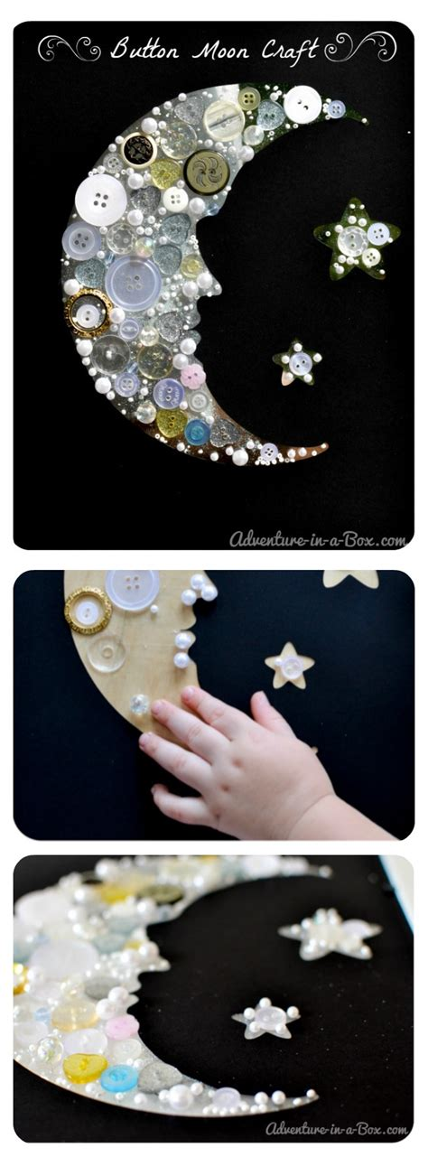 moon crafts for make a button moon collage