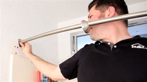 Shower Curtain For Corner Bath how to install a curved shower curtain rod build com youtube