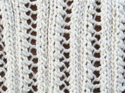 knitting with eyelet lace eyelet lace ribbing knitting pattern knitting