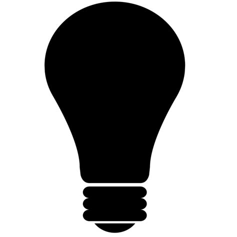 silhouette lights free illustration light bulb light icon silhouette