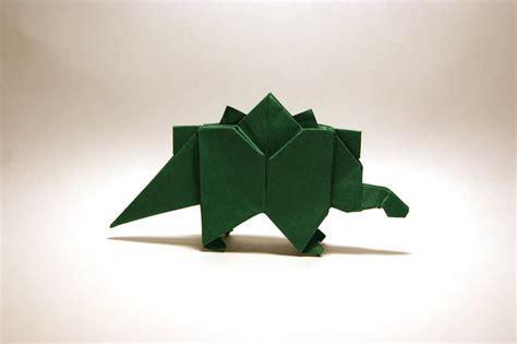 origami stegosaurus origami stegosaurus by orimin on deviantart