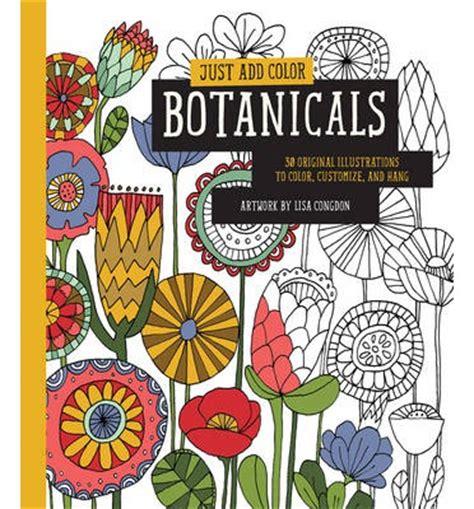 add color just add color botanicals congdon 9781631590290