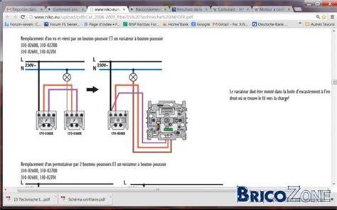 comment placer un variateur si deux interrupteurs pour une oule