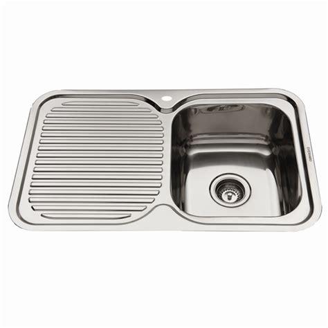 everhard kitchen sinks everhard 780mm nugleam single rh bowl kitchen sink with