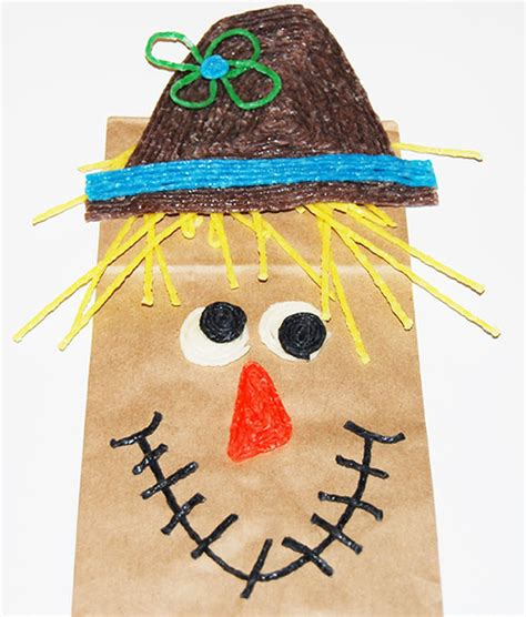 scarecrow paper bag craft harvest themed paper bag scarecrow crafts for