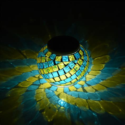 solar mosaic garden lights mosaic glass garden lights color changing led solar