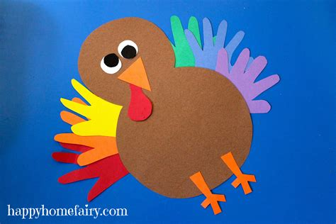 construction paper thanksgiving crafts thankful handprint turkey craft free printable happy