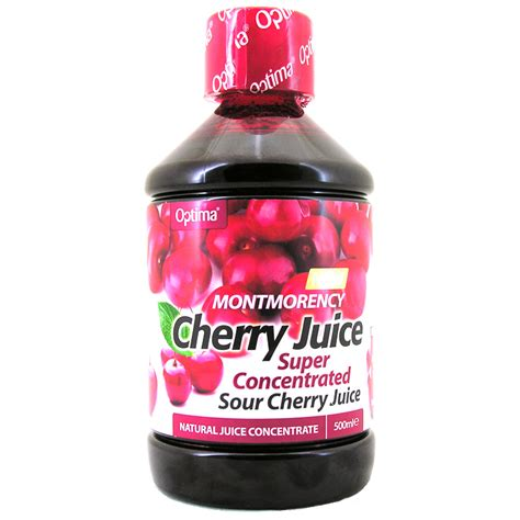 cherry juice optima montmorency cherry juice concentrated 500ml