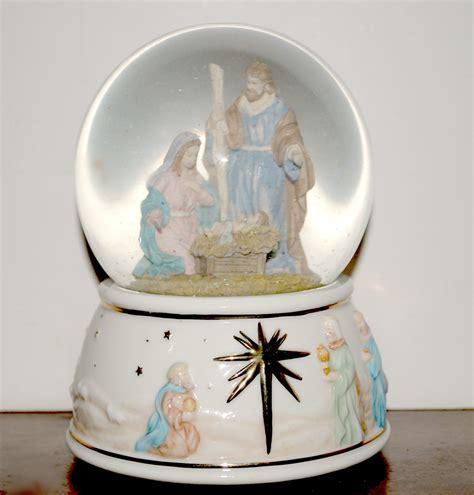 sale nativity box snow globe o holy globe