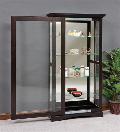 door curio cabinet mission sliding door curio cabinet