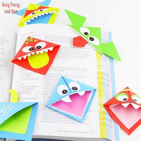 Diy Corner Bookmarks Monsters Easy Peasy And