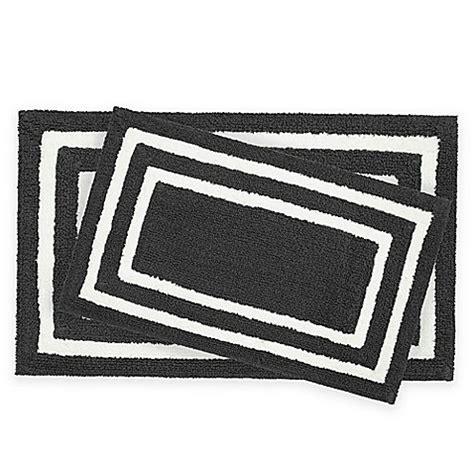 Black White Bathroom Rugs by Black And White Bathroom Rug Sets