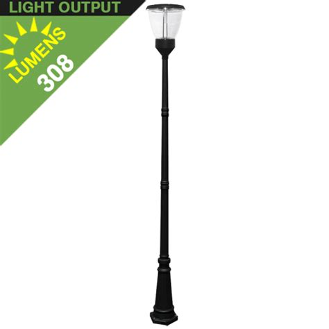 solar column lights outdoor po04 solar led l post light with standard sectional