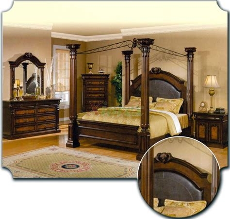 bedroom set with leather headboard poster bedroom furniture set with leather headboard
