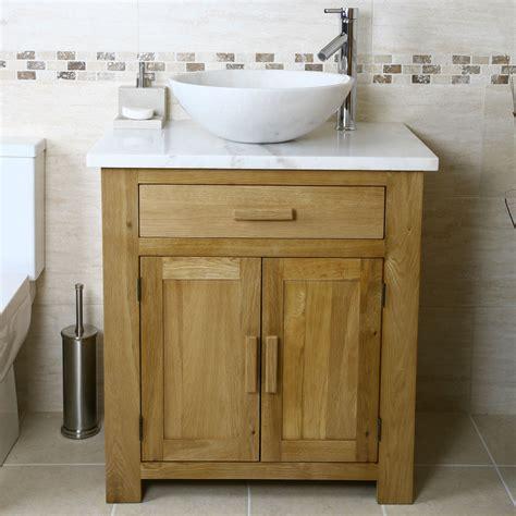 50 Off Oak Vanity Unit With White Marble Top Bathroom