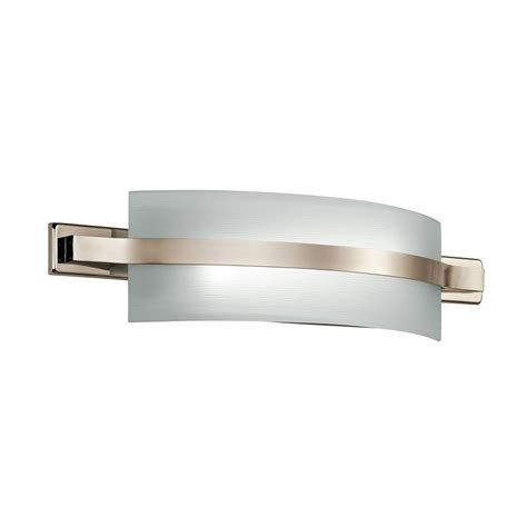led bathroom lights vanity shop kichler lighting 1 light freeport polished nickel led
