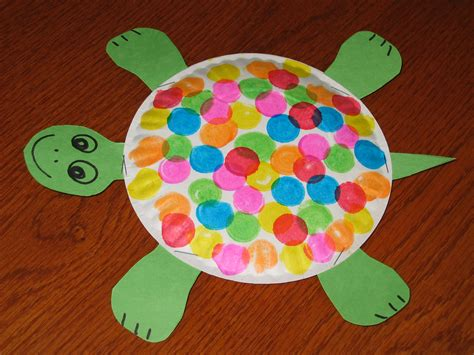 paper plate preschool crafts paperplate turtle