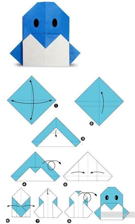 penguin origami kg falten on origami easy origami and origami cat