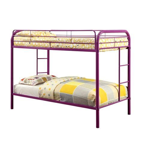 furniture of america bunk beds furniture of america capelli metal bunk bed