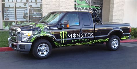 Monster Energy Sticker Truck by Monster Energy Truck Wraps And Vehicle Wraps Gatorwraps