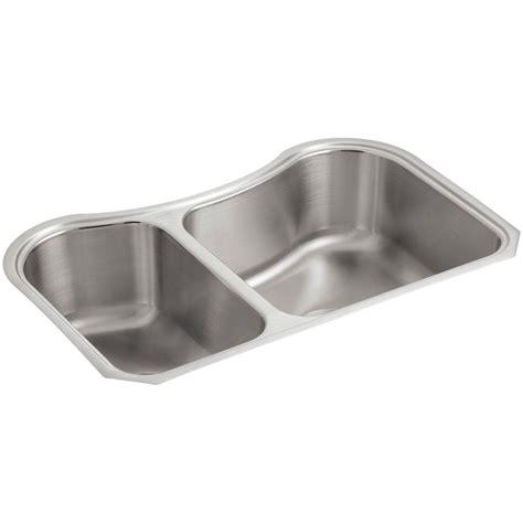 kohler stainless steel undermount kitchen sinks kohler staccato undermount stainless steel 32 in