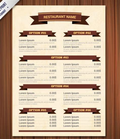 top 30 free restaurant menu psd templates in 2017 colorlib