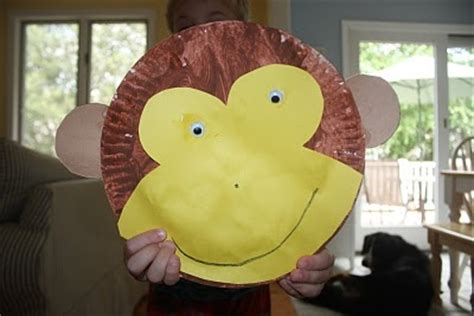 monkey paper plate craft crafts actvities and worksheets for preschool toddler and