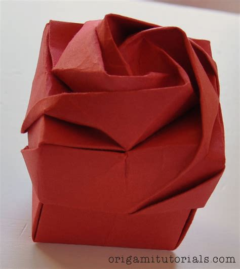 how to make an origami flower box make origami flower box comot