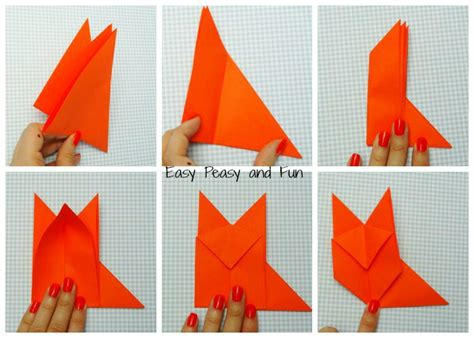 how to make a fox origami origami fox origami for easy peasy and