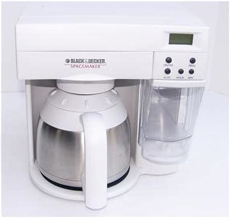 Black Amp Decker Spacemaker Coffee Maker 10 C Program ODC400 Space Saver Thermal   eBay
