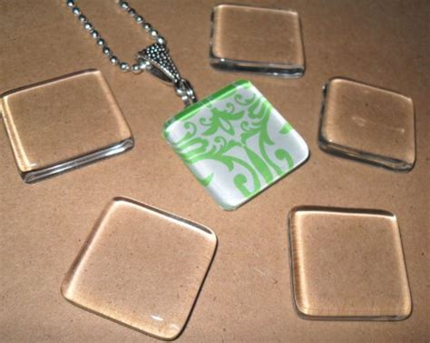clear glass tiles for jewelry pearl designs 10 small ultra clear 1 inch square