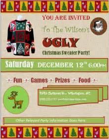 sweater invitations free sweater invitation template freebest business