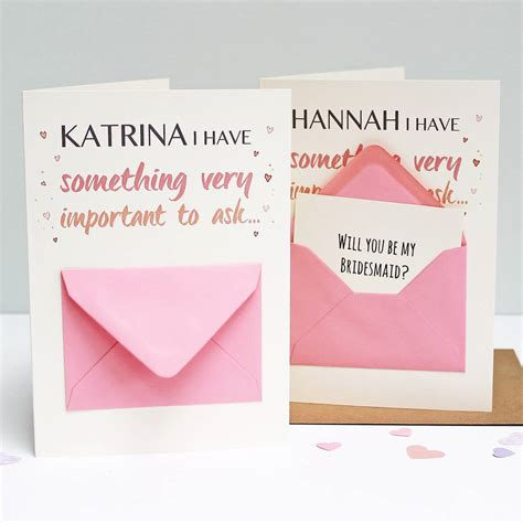 how to make a secret message card will you be my bridesmaid secret message card by