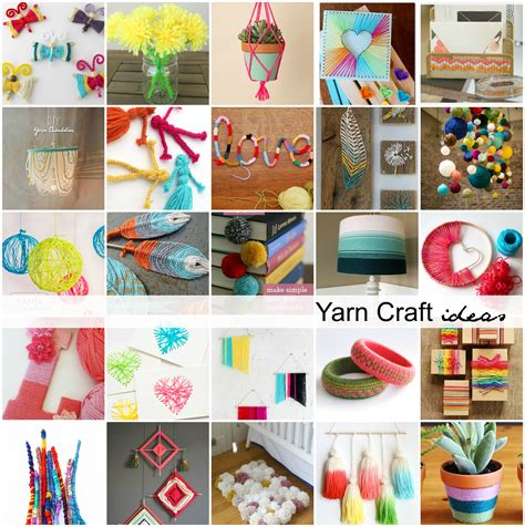 ideas for craft yarn craft ideas the idea room