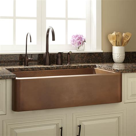 farm house kitchen sinks 36 quot raina copper farmhouse sink kitchen