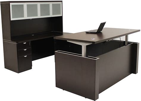 office u shaped desk adjustable height u shaped executive office desk w hutch