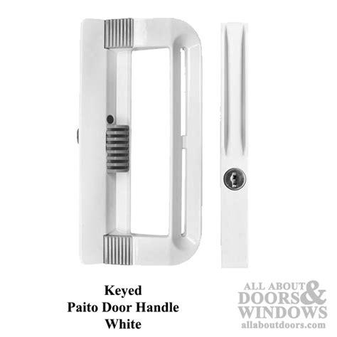 keyed patio door handle non handed keyed handle with for patio door white