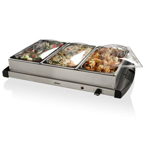 buffet server 3 compartment electric covered side dish buffet